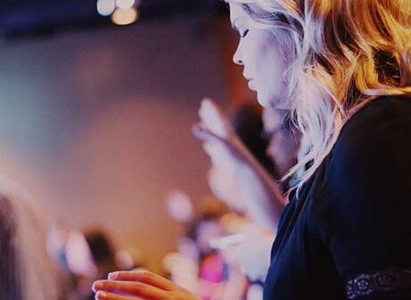 Woman worshiping